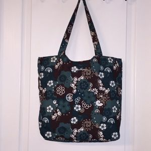 Eddie Bauer Reversible Tote Hand Bag Purse Quilted